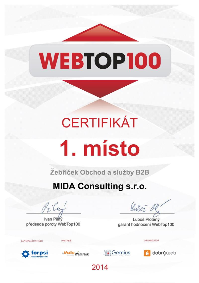 WebTop100 - ocenění